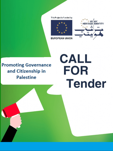 Call for  Tender: Promoting Governance and Citizenship in Palestine